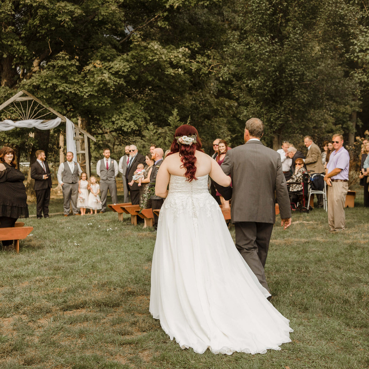 Wedding ceremony at the Marmalade Lily