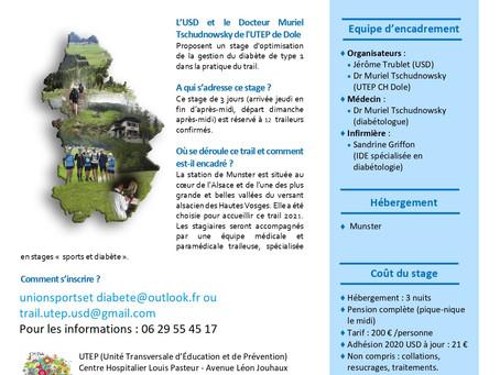 REPORT !!!!!!!!                                Stage d'optimisation Trail et Diabète