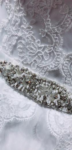 detail dress ornaments bridal