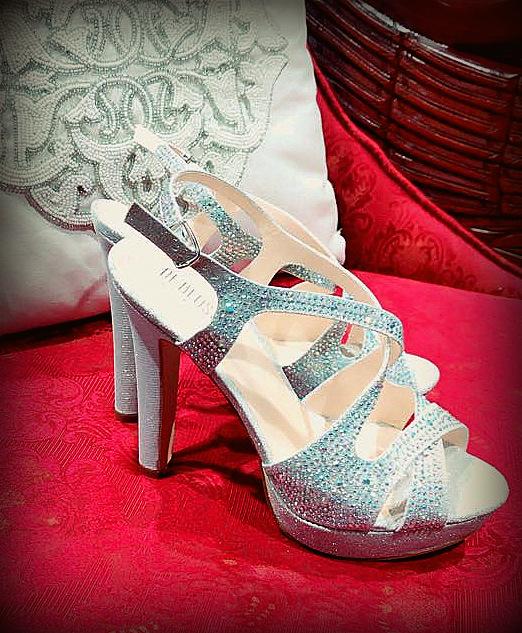 Rhinestones grey Shoes