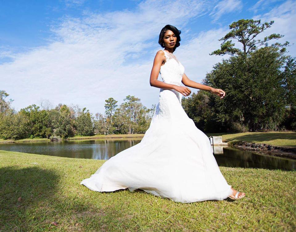 bridal contest costumer model