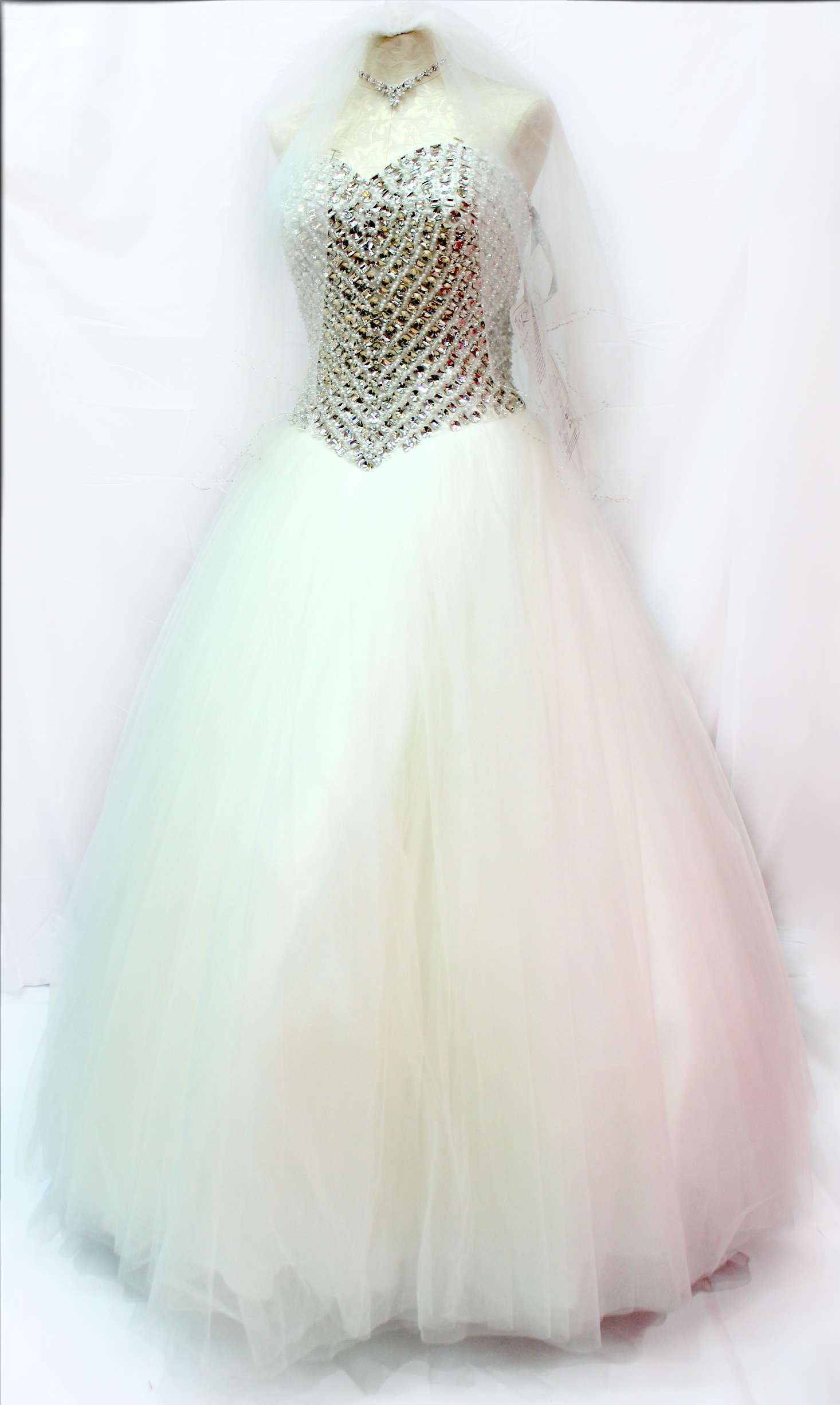Bridal Dress with Rhinestones