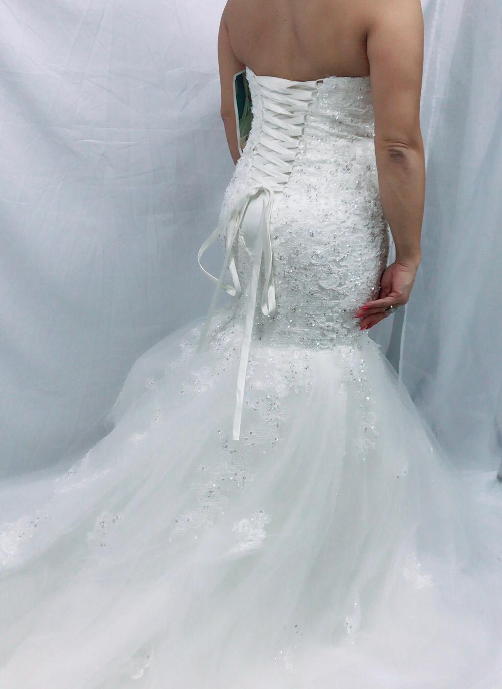 back white dress bridal