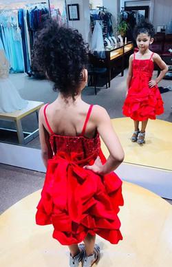 red dress little girl