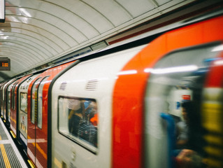 urban commute in London giving rise to anger management