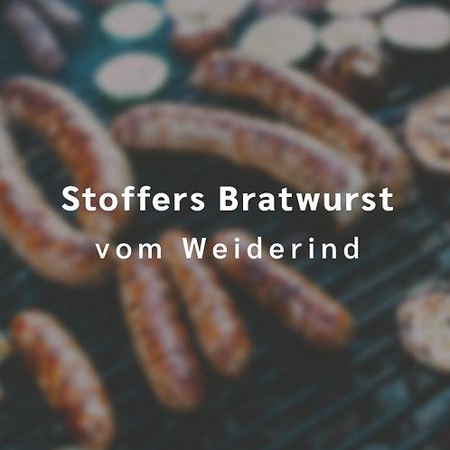 Stoffers Bratwurst vom Weiderind (5 Stck., insgesamt etwa 300 g)