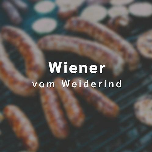 Wiener Würstchen vom Weiderind (4 Stck., insgesamt etwa 300 g)