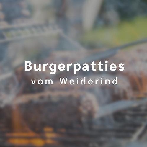 Burgerpatties vom Weiderind (2 Stck., insgesamt etwa 350 g)