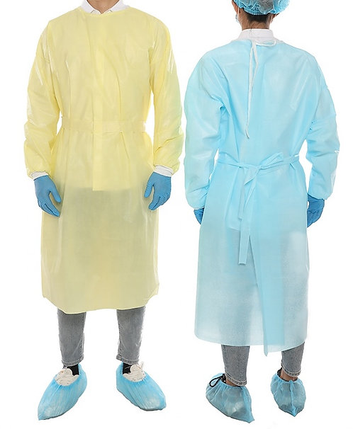 High Performance Level 4 Isolation Gown18g PP+20g PE Coated, Fully Taped