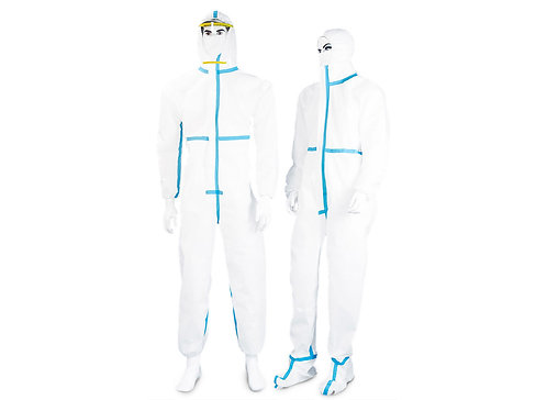 Medical Protective Coverall 63g with sealing tape Type 3B-4B, Type 5B-6B