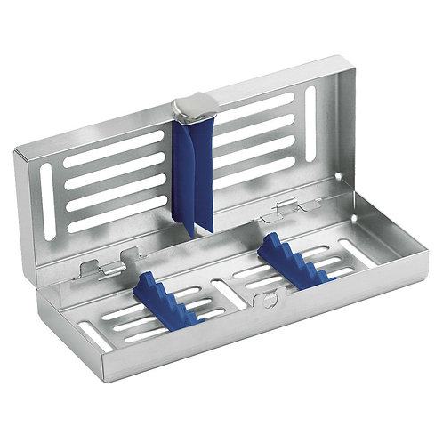 Locking Cassette tray mini, 5-instruments with Blue Frame