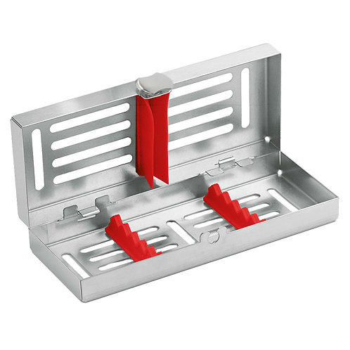 Locking Cassette tray mini, 5-instruments with Red Frame