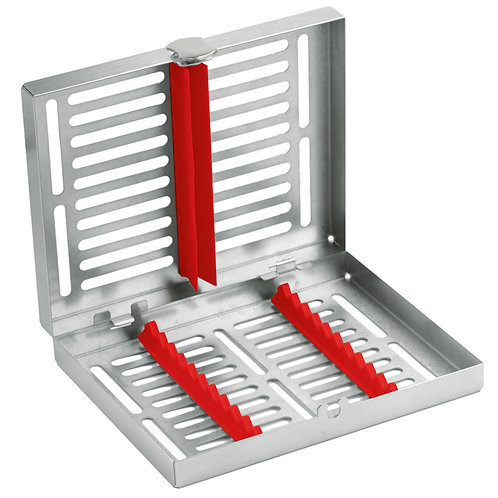Locking Cassette tray mid, 10-instruments with Red Frame