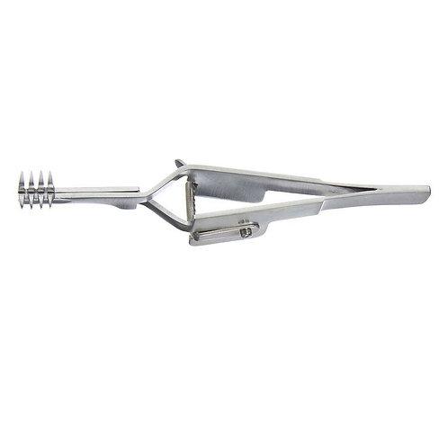 Heiss Skin Retractor 10cm, Cross Action, 4×4 Prongs