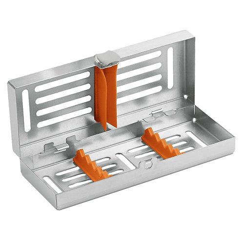 Locking Cassette tray mini, 5-instruments with Orange Frame