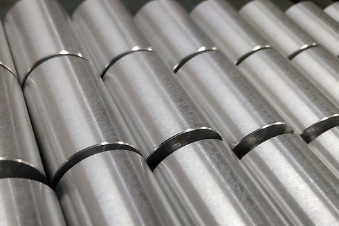 cylindrical parts with chamfers made on