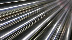 Metal bars, chrome plated, shiny, polishing