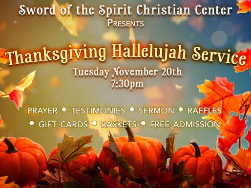 Thanksgiving Hallelujah Service
