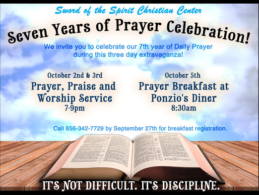 Seven Years of Prayer Celebration