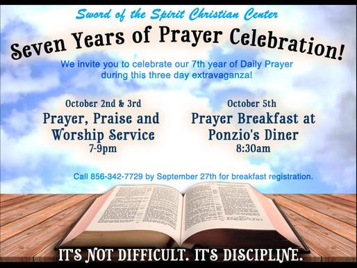 Seven Years of Prayer Celebration