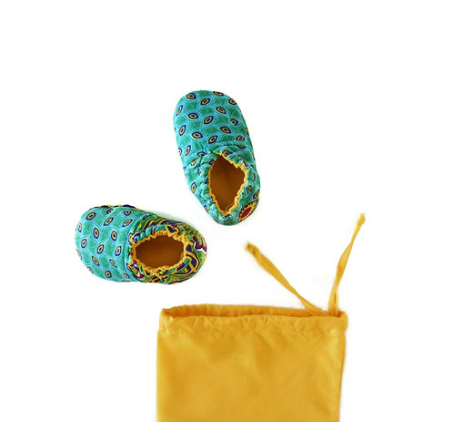 Sunshine on a Rainy Day - Reversible Crib Shoes