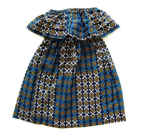 Girls Maxi Dress- Kpokpo Print