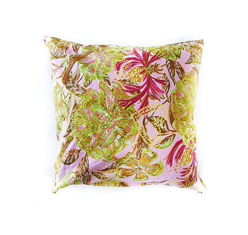 Rosé Flowers Throw Pillow