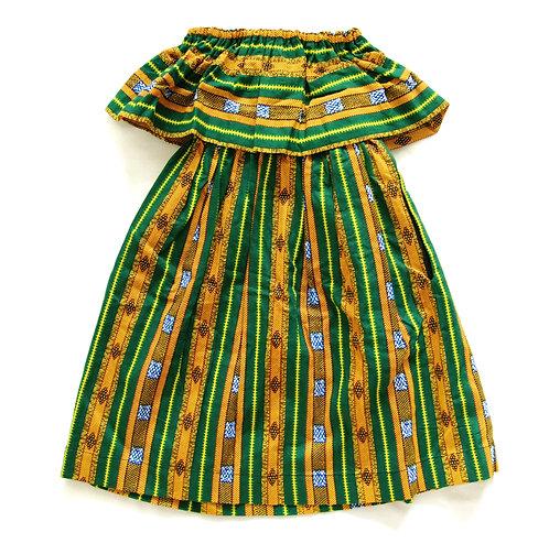 Girls Maxi Dress- Tracks Print