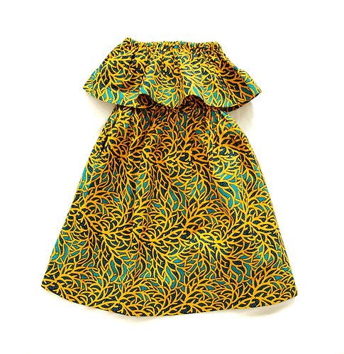 Girls Maxi Dress- Madagascar Print