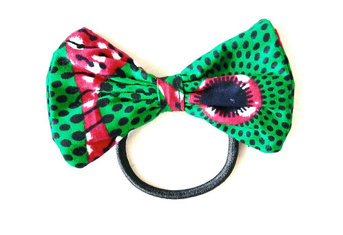 Green & Pink Hair Tie-WS