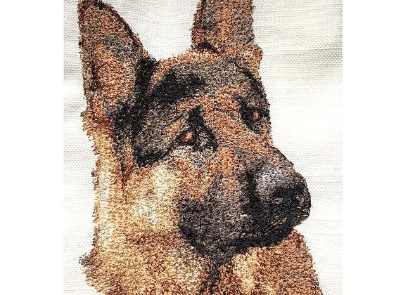 German Shepherd (Large) 5 x 7 hoop