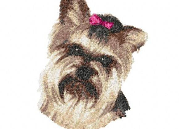 Yorkie Pink Bow
