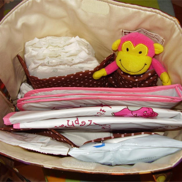 Nappy/Diaper bag inside