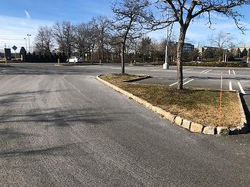 Parking lot island