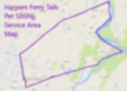 Harpers Ferry Tails Pet Sitting Service Area Map