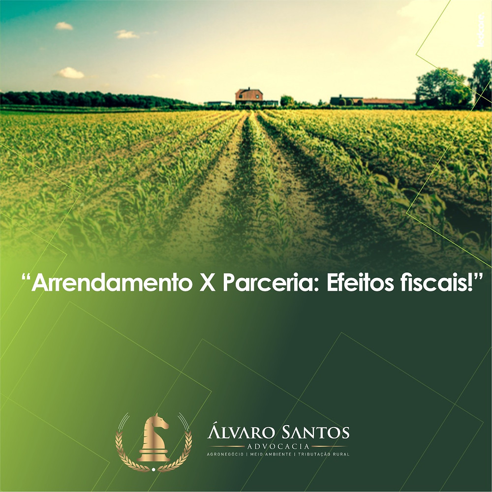Arrendamento rural parceria fiscal