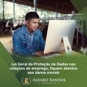 Lei Geral de Proteção de Dados nas relações de emprego, fiquem atentos aos danos morais