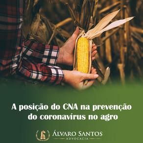A posição do CNA na prevenção do coronavírus no agro