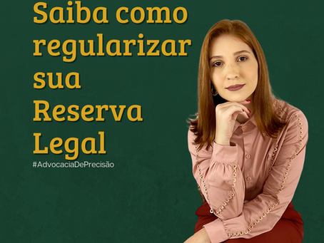 Saiba como regularizar sua Reserva Legal