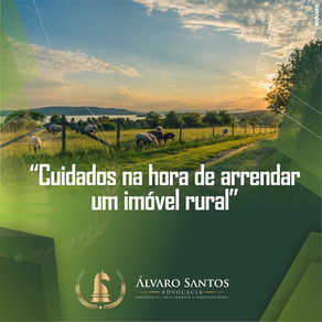 Cuidados na hora de arrendar um imóvel rural!