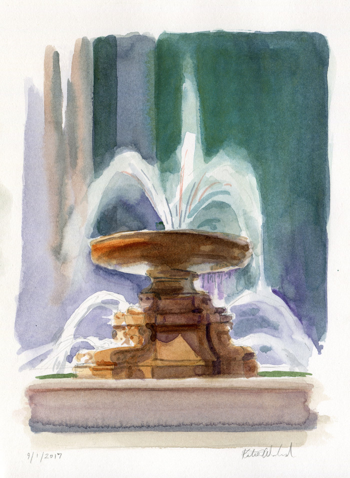 Bryant Park: When in Doubt, Paint the Fountain