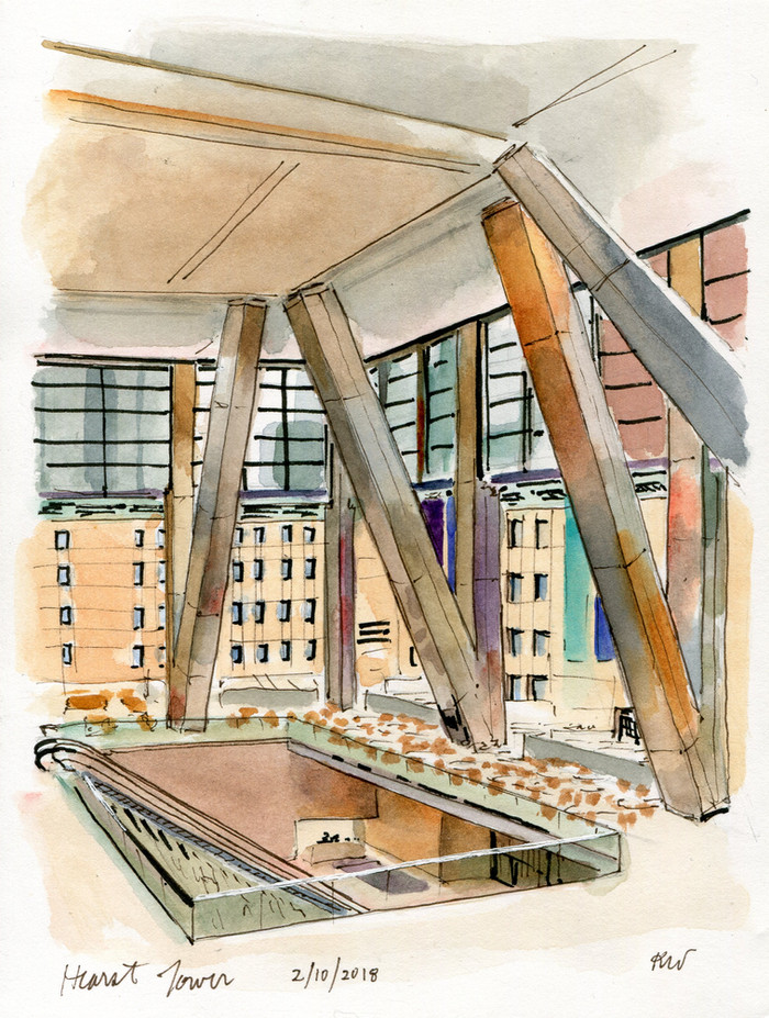 Hearst Tower with NYC Urban Sketchers