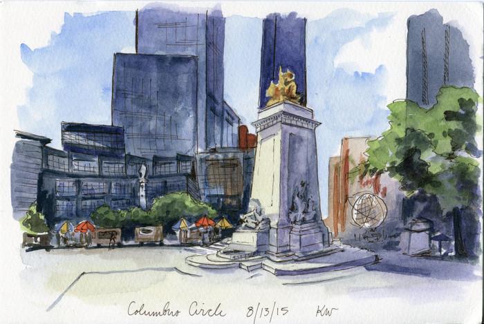 Flashback Friday: Columbus Circle