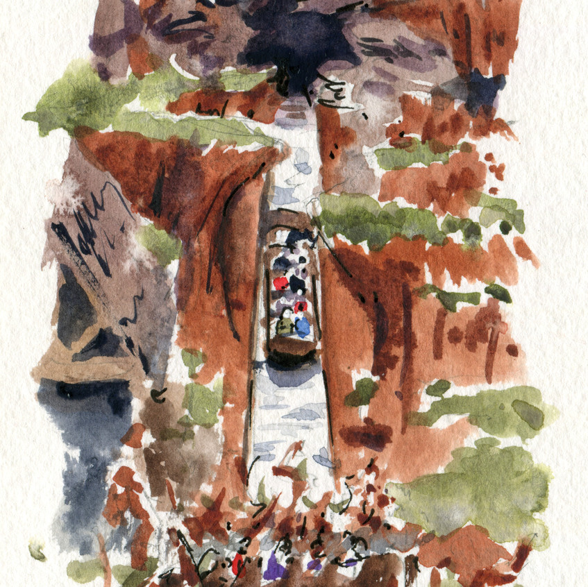Another favorite: Splash Mountain! It wasn't running when we were there last year, so we went on it multiple times this year to compensate!