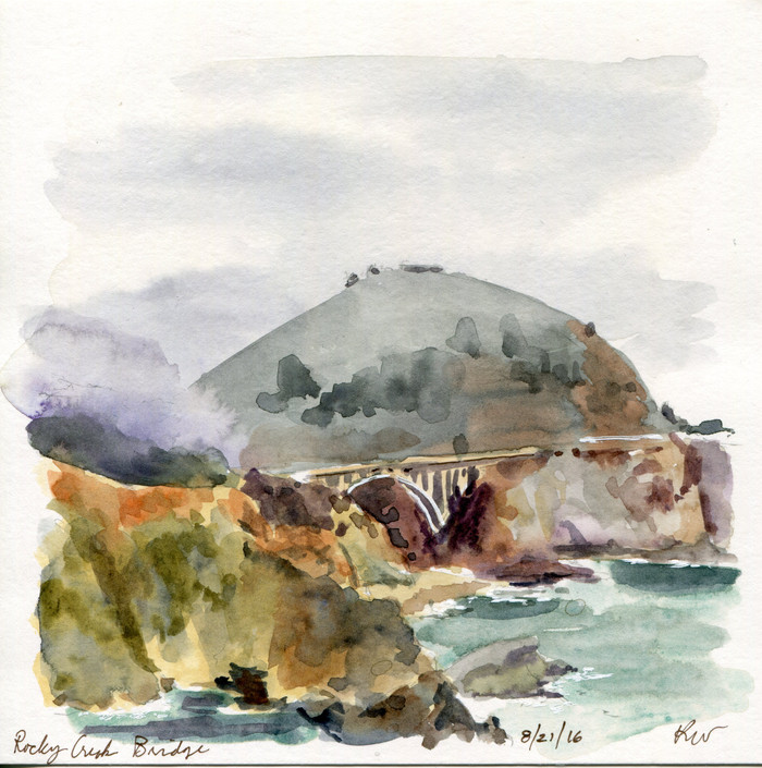 "CA Sketchcation, Big Sur: ""Fire to the Left, Hundred Foot Drop to the Right. What could go wron"