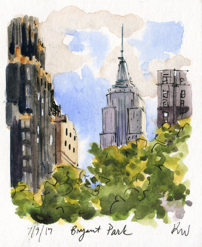 Two Bryant Park Sketches