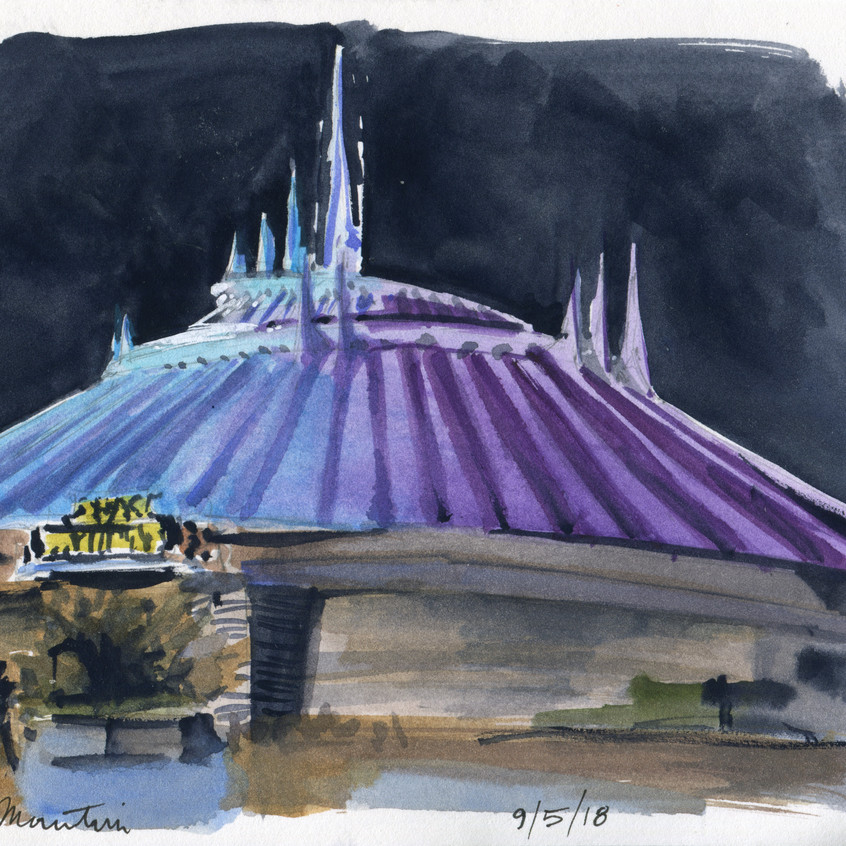 Also did a subject I missed last time: Space Mountain!