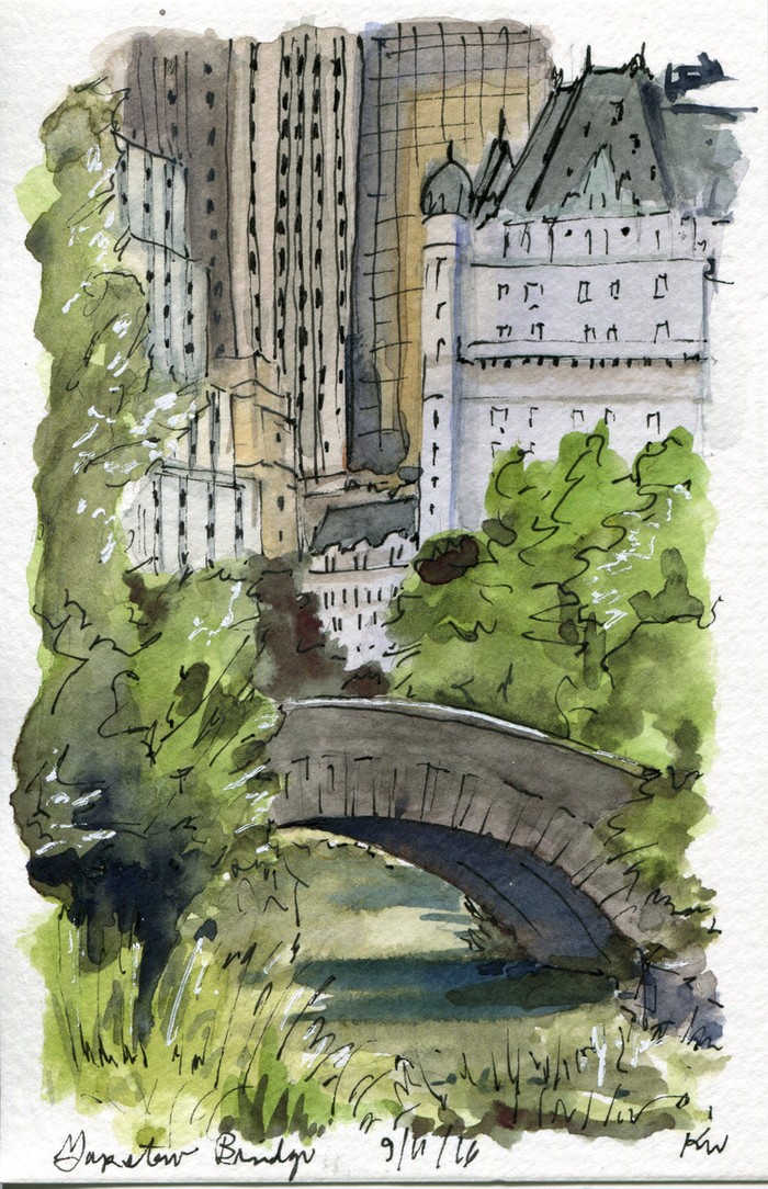 NYC Urban Sketchers in Central Park