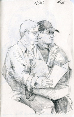 Two Men on a Train