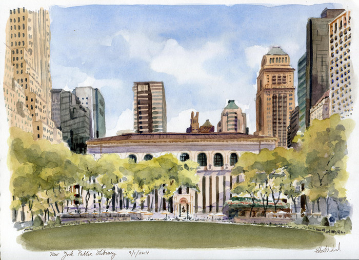 Bryant Park: The Library